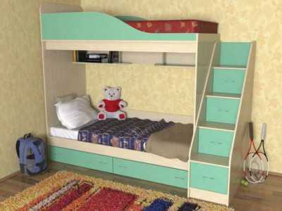 Кровать детская трёхъярусная